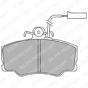 LP692 - Brake Pad Set, disc brake