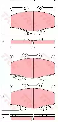 GDB3383 - Brake Pad Set, disc brake