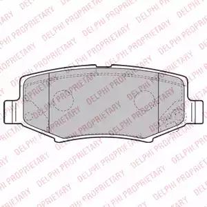 LP2172 - Brake Pad Set, disc brake