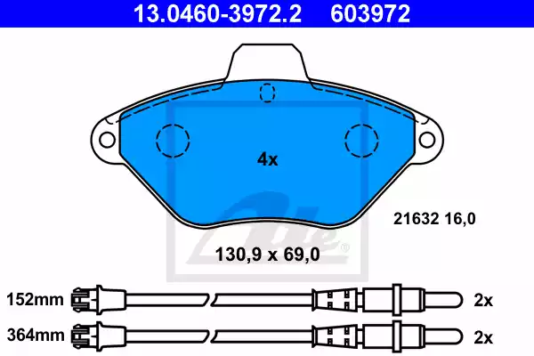 13.0460-3972.2 - Brake Pad Set, disc brake