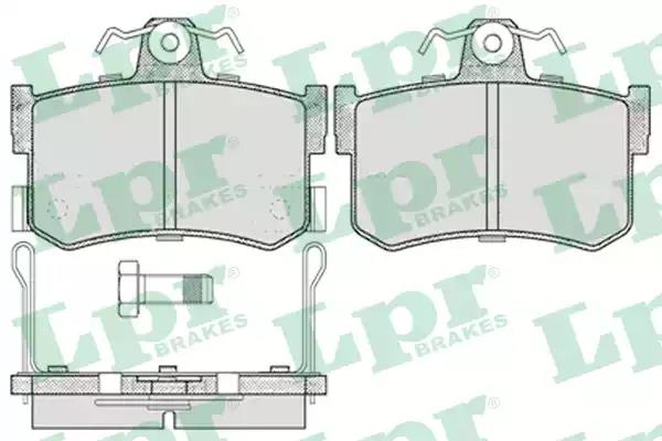 05P654 - Brake Pad Set, disc brake