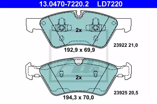 13.0470-7220.2 - Brake Pad Set, disc brake