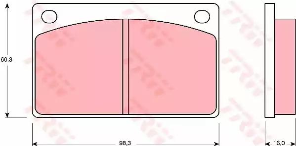 GDB576 - Piduriklotsi komplekt, ketaspidur