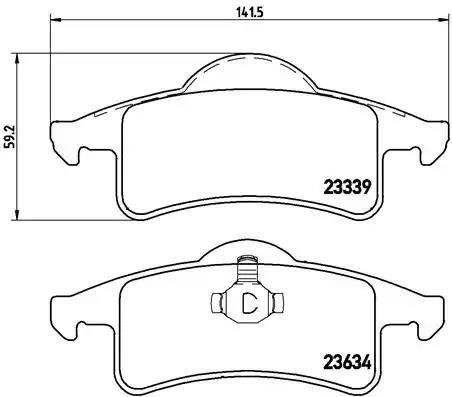 P 37 006 - Brake Pad Set, disc brake