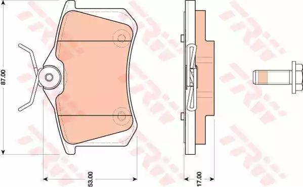 GDB1813 - Piduriklotsi komplekt, ketaspidur