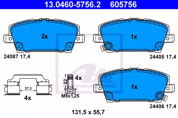 13.0460-5756.2 - Brake Pad Set, disc brake