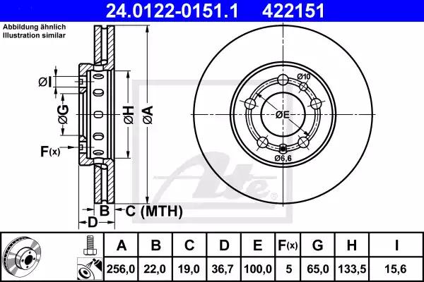 24.0122-0151.1 - Brake Disc