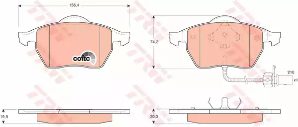 GDB1440 - Brake Pad Set, disc brake