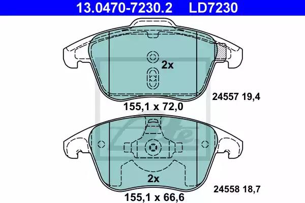 13.0470-7230.2 - Brake Pad Set, disc brake