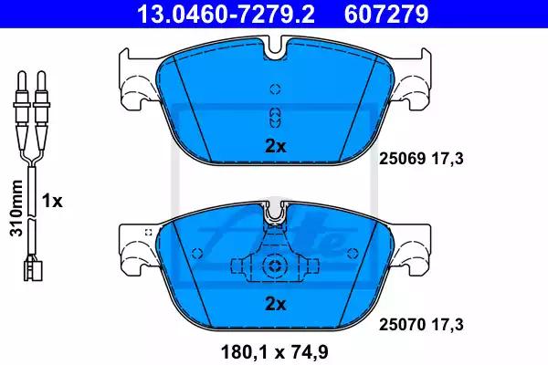 13.0460-7279.2 - Brake Pad Set, disc brake
