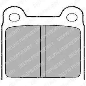 LP18 - Brake Pad Set, disc brake