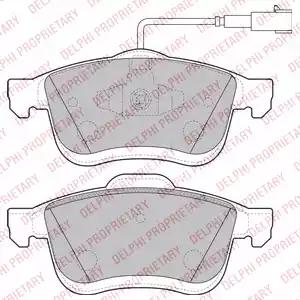 LP2168 - Brake Pad Set, disc brake