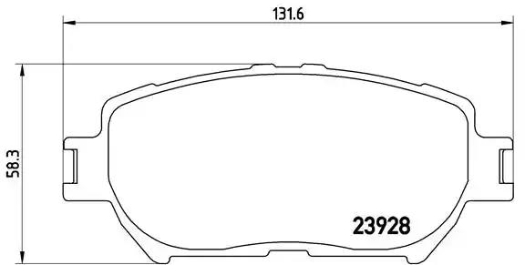 P 83 062 - Brake Pad Set, disc brake