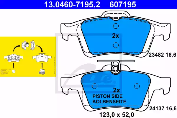 13.0460-7195.2 - Brake Pad Set, disc brake