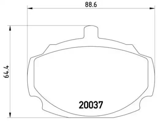 P 52 001 - Brake Pad Set, disc brake