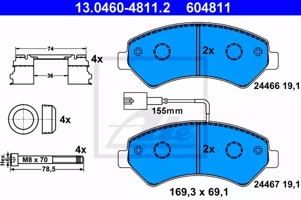 13.0460-4811.2 - Brake Pad Set, disc brake