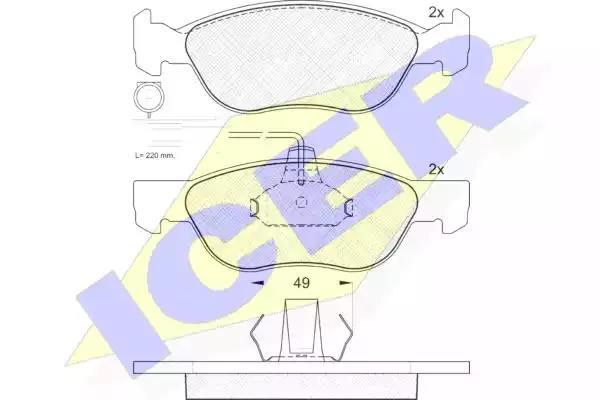 181243 - Brake Pad Set, disc brake