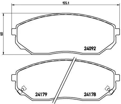 P 30 019 - Brake Pad Set, disc brake