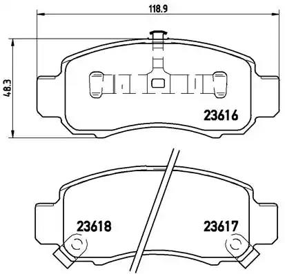 P 28 033 - Brake Pad Set, disc brake