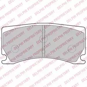 LP2217 - Bromsbeläggssats, skivbroms