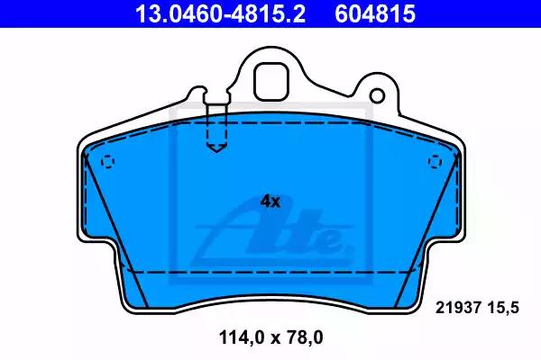 13.0460-4815.2 - Brake Pad Set, disc brake