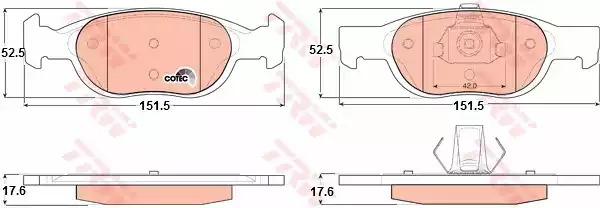 GDB1339 - Brake Pad Set, disc brake