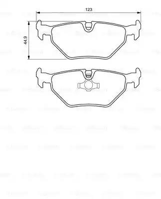 0 986 424 667 - Brake Pad Set, disc brake