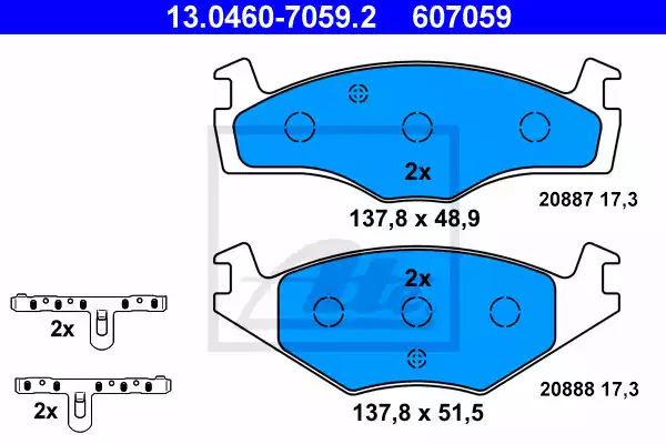 13.0460-7059.2 - Piduriklotsi komplekt, ketaspidur
