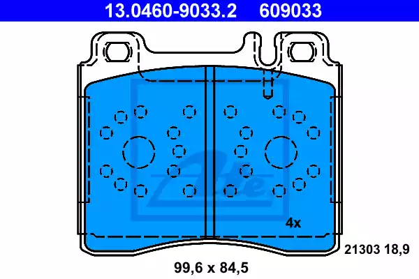 13.0460-9033.2 - Brake Pad Set, disc brake