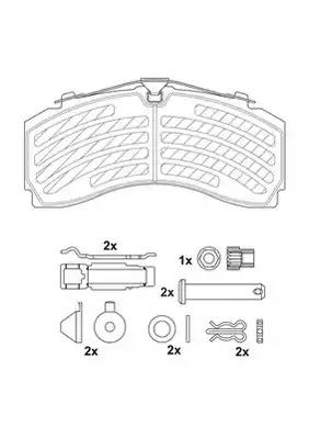 2924605390 - Brake Pad Set, disc brake