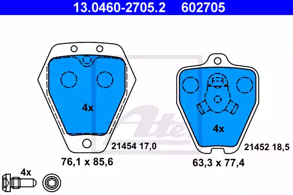 13.0460-2705.2 - Brake Pad Set, disc brake