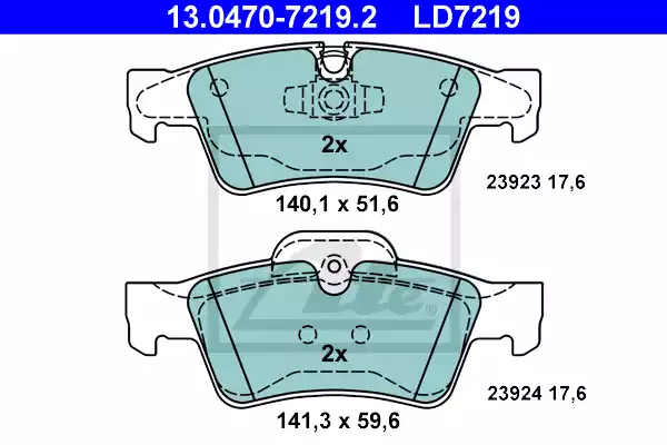 13.0470-7219.2 - Brake Pad Set, disc brake