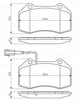 0 986 494 228 - Brake Pad Set, disc brake