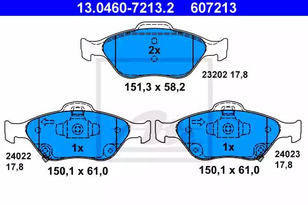 13.0460-7213.2 - Brake Pad Set, disc brake