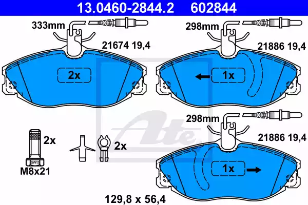 13.0460-2844.2 - Brake Pad Set, disc brake