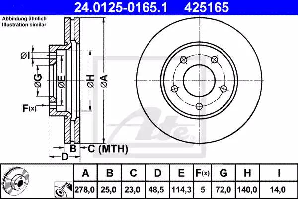 24.0125-0165.1 - Brake Disc