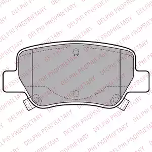LP2206 - Brake Pad Set, disc brake