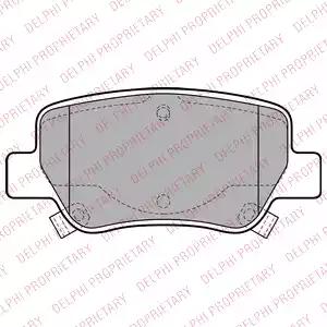 LP2206 - Bromsbeläggssats, skivbroms