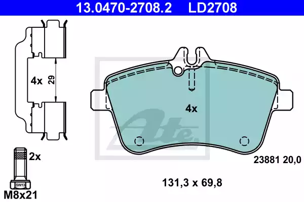 13.0470-2708.2 - Brake Pad Set, disc brake