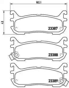 P 49 021 - Brake Pad Set, disc brake