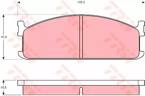 GDB345 - Brake Pad Set, disc brake