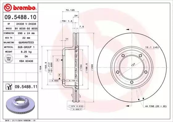 09.5488.10 - Brake Disc