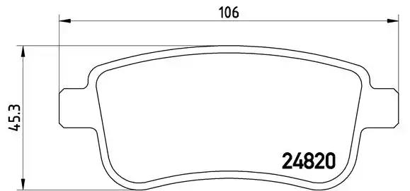P 68 041 - Brake Pad Set, disc brake