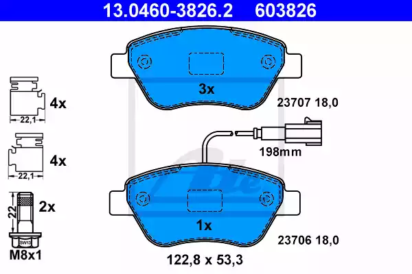 13.0460-3826.2 - Brake Pad Set, disc brake