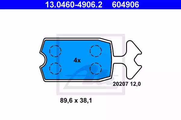 13.0460-4906.2 - Brake Pad Set, disc brake