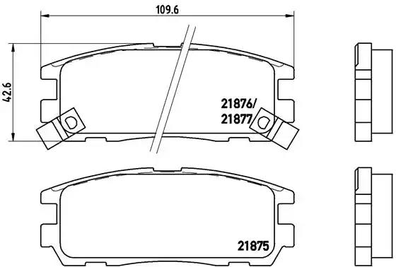 P 59 021 - Brake Pad Set, disc brake