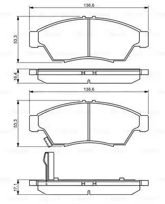 0 986 494 238 - Brake Pad Set, disc brake