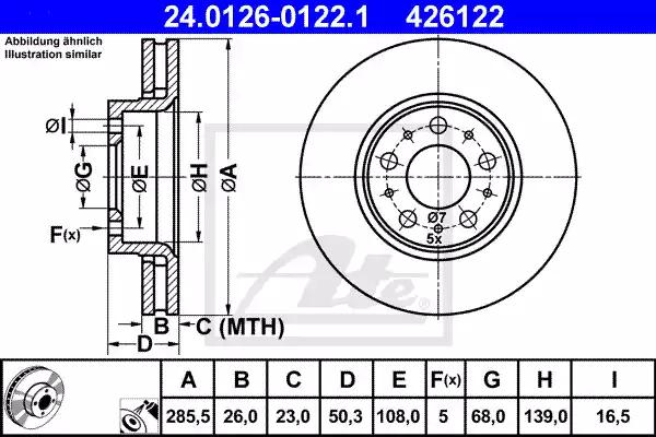 24.0126-0122.1 - Brake Disc