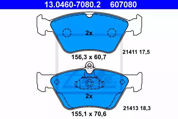 13.0460-7080.2 - Brake Pad Set, disc brake