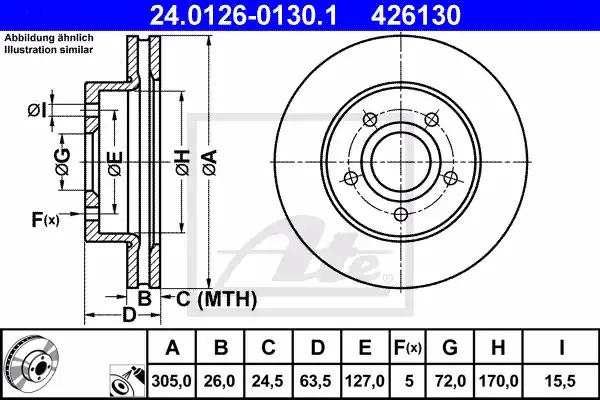 24.0126-0130.1 - Brake Disc